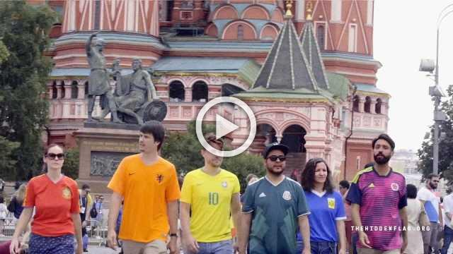 Activists stage stealth rainbow flag protest in World Cup Russia