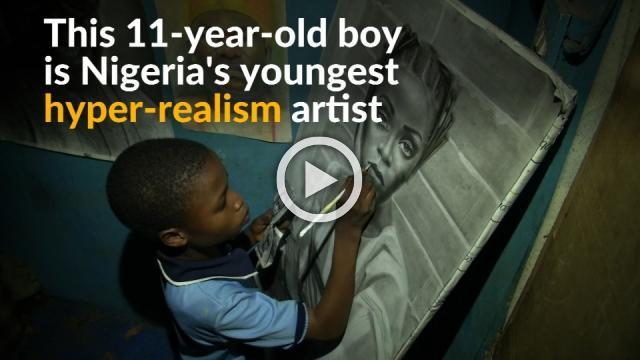Young Nigerian artist takes hyper-realism work to new heights