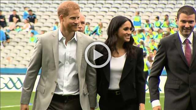 Harry and Meghan get a taste of Irish culture on Dublin visit