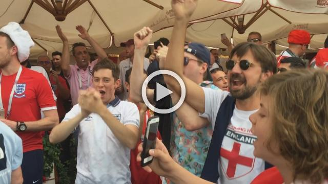 Party erupts as Croatia, England fans converge on Red Square