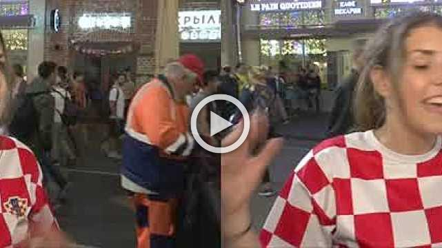 Fans from around the world join Croatians to celebrate win in Moscow