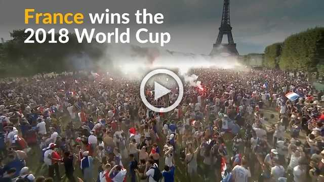 French soccer fans celebrate World Cup victory