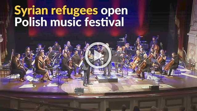 With a message of hope, Syrian refugees open Polish music festival