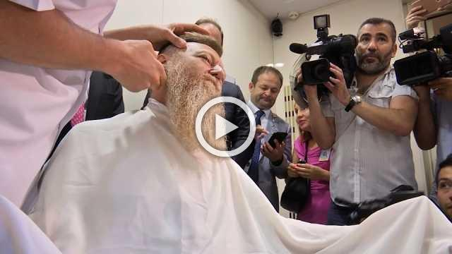 Turkish politician bids goodbye to two-year-old beard after end of emergency rule