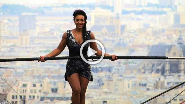 Tightrope walker completes 35m high stunt in Paris