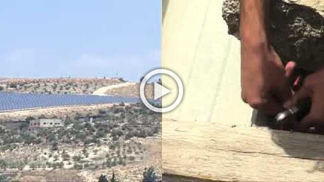 Palestinians turn to the sun to reduce their power shortfall