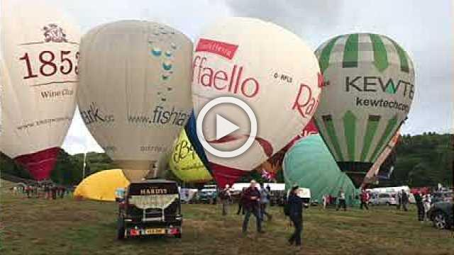 Hot air balloon festival in England postponed due to weather