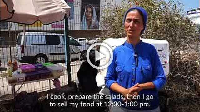 Hopping on: Moroccan mom starts a street food business on her bike