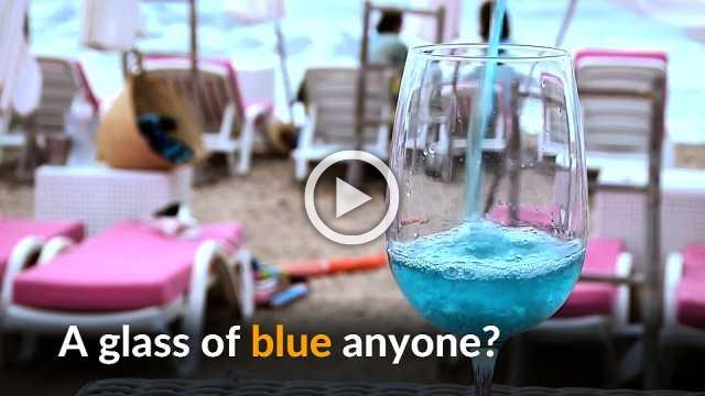 Blue wine makes a splash in southern France