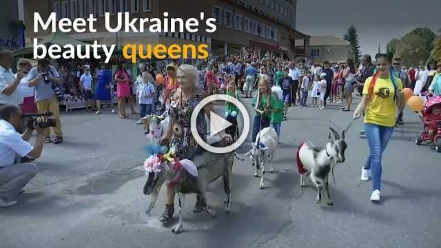 Ukraine's Ternopil crowns horned beauty queens
