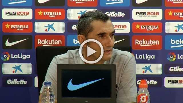 """Sounds strange for us to play La Liga in the United States"", says Barca coach Valverde"