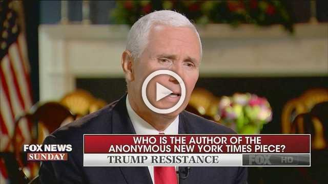 Pence echoes Trump's assertion that column is national security issue