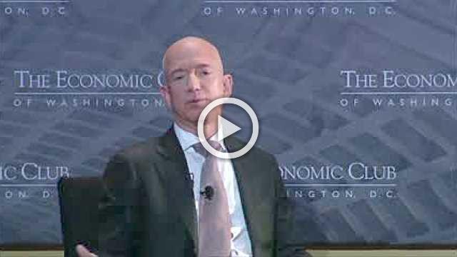 Amazon's Bezos says Trump should be 'glad' of media scrutiny