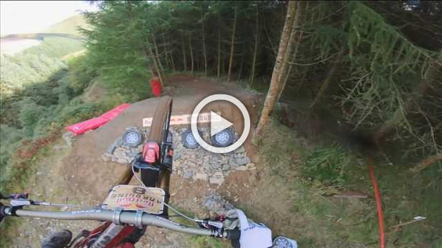 Hold on tight! Stomach-churning footage of downhill mountain bike descent
