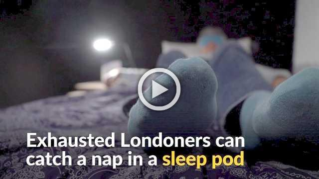 Tired Londoners rent sleep pods for some ZZZs