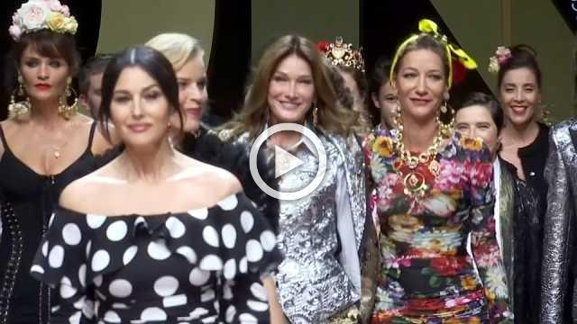 Nineties supermodels and plus sizes rule at Dolce&Gabbana show