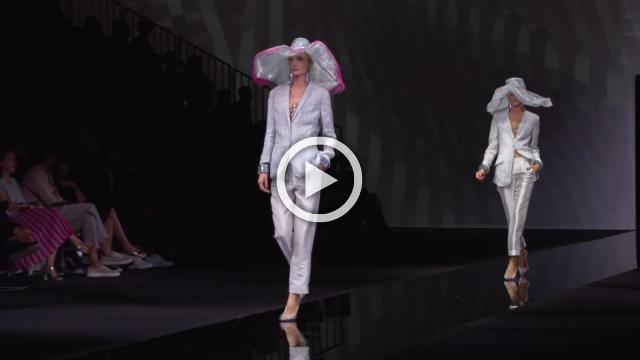 Armani defines the shape of colour in pastel and silver collection