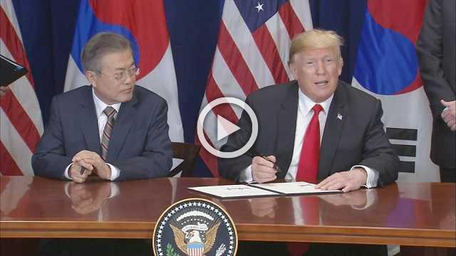 Trump signs trade pact with S. Korea's Moon