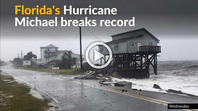 Record-breaking hurricane Michael causes severe damage in Florida