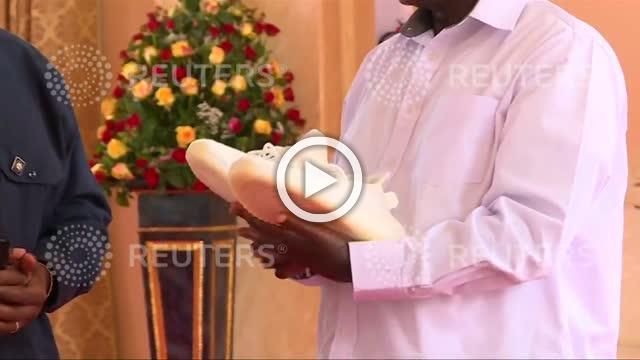 Kanye and Kim tout 'Yeezy' in Uganda