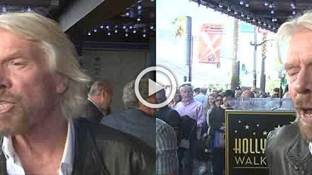 Richard Branson honored with star in Hollywood
