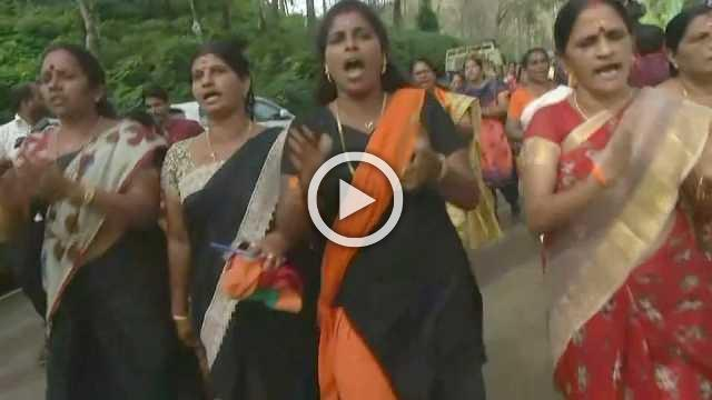 Tensions at Indian temple over menstrual-age female pilgims