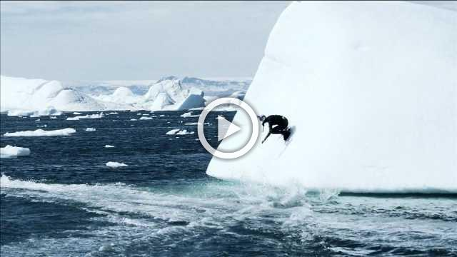 Wakeboarder rides Greenland's icebergs