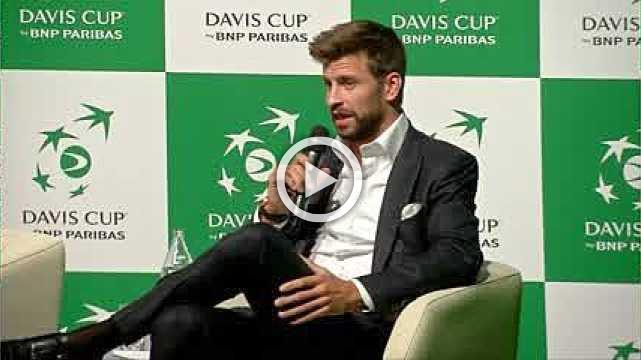 Gerard Pique unveils new Davis Cup
