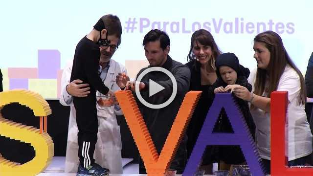 Emotional Messi sets ball rolling for children cancer centre