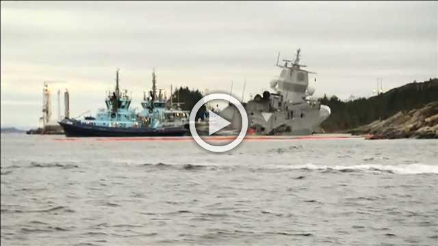 Oil tanker collides with frigate off Norway, oil and gas plants shut