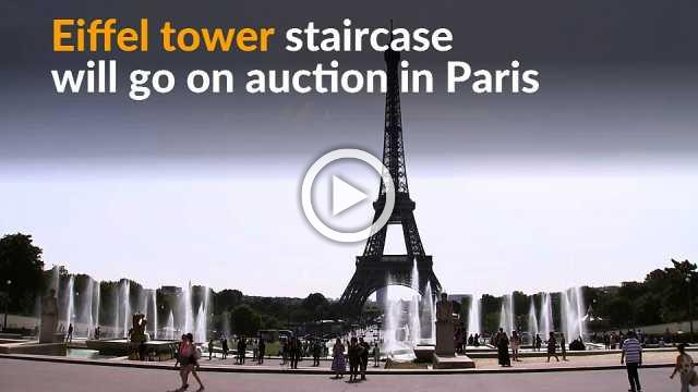 Iconic Eiffel Tower staircase up for auction