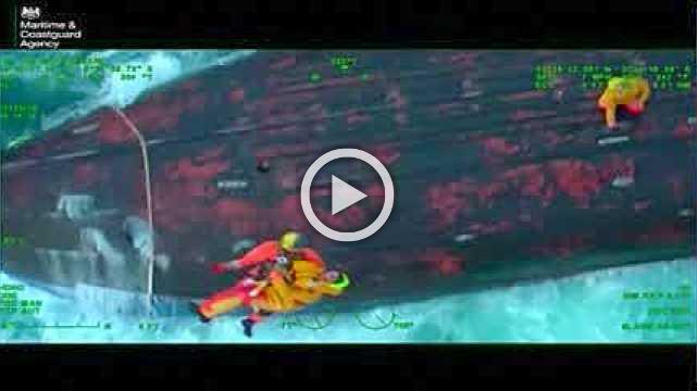 Daring sea rescue caught on camera