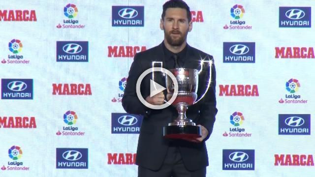 Messi receives La Liga 2017-2018 best player and top scorer awards