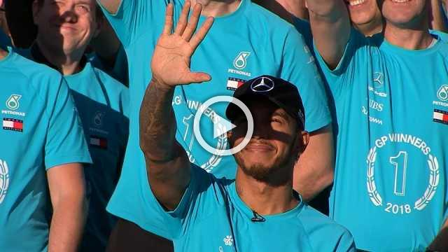 High fives at Mercedes as Hamilton sets sights on six titles