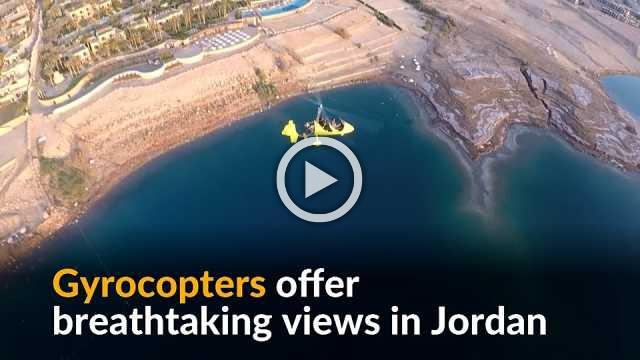 Gyrocopters offer breathtaking view above Jordan