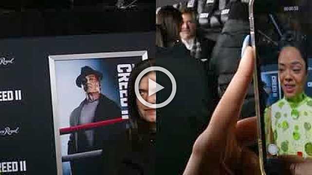 Stallone, Jordan, Thompson hit 'Creed II' premiere
