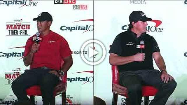 Tiger Woods and Phil Mickelson preview their head-to-head showdown