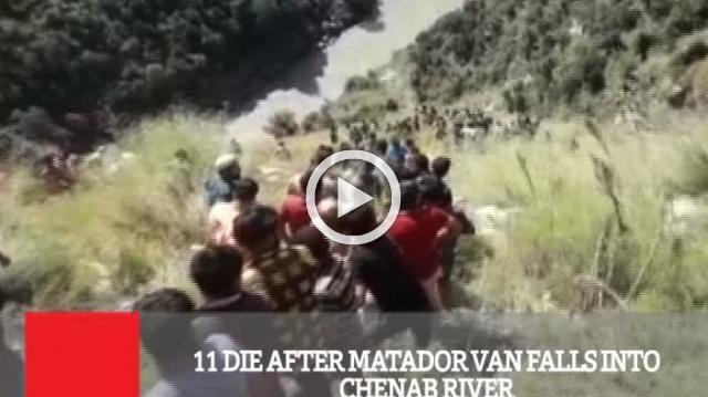 11 Die After Matador Van Falls Into Chenab River