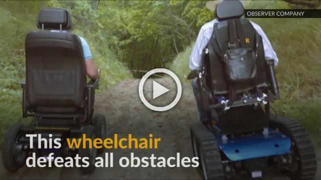 Russian ex-pilot designs all terrain wheelchair