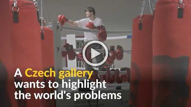 Czech gallery aims to highlight 'hard times' with gym exhibition
