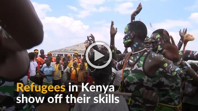 Kenya hosts talent show in one of its largest refugee camps
