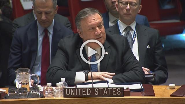 Pompeo urges U.N. clamp-down on Iran's ballistic missiles