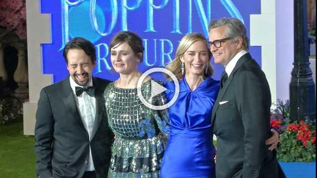 """Star-studded """"Mary Poppins Returns"""" premiere held in London"""