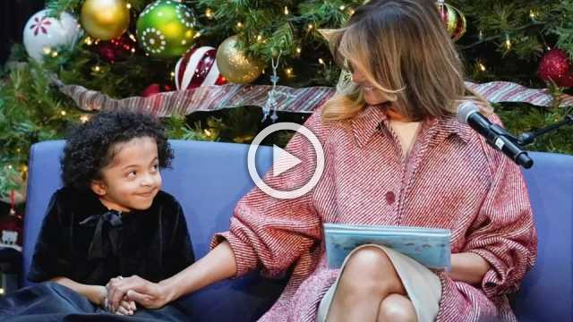 Melania reads to children at the hospital