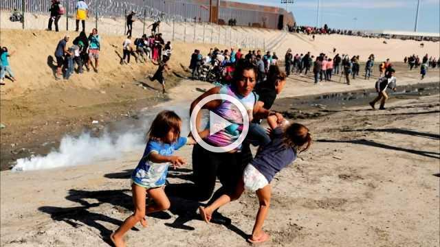 Family snapped fleeing tear gas seek U.S. asylum