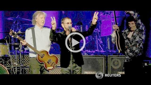 Paul, Ringo and Ronnie rock the O2 in London