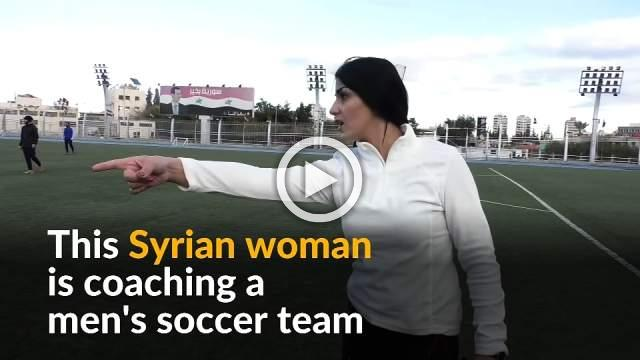 Syrian female soccer coach hopes to win big with men's team