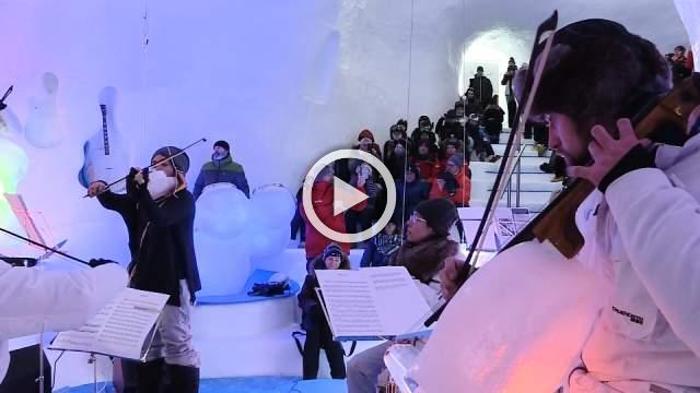 Making ice from music on an Italian glacier