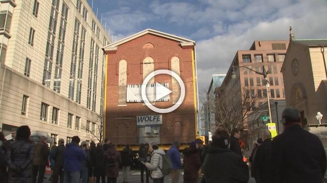 Historic D.C. synagogue wheeled to new home