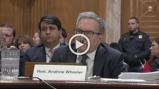 Senators grill Trump's new EPA pick on pro-coal record